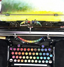 Design Inspiration: A 1937 Typewriter That Paints With Colorful Oils