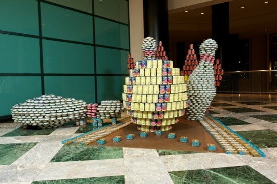 Creative Food Can Sculpture Builds