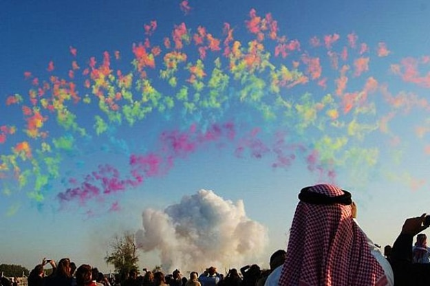 Colorful Explosions During The Day