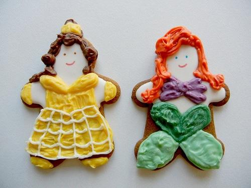 Snow White Cinderella Ariel Cookies