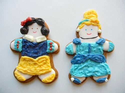 Snow White Ariel Cinderella Cookies