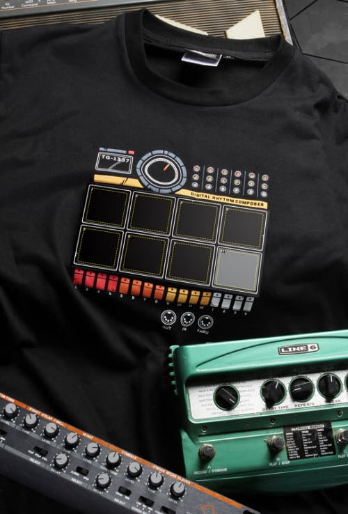 The Drum Machine T-Shirt Pops Some Beats