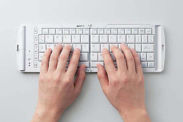 The Folding Bluetooth Keyboard For Your iPad Or iPhone
