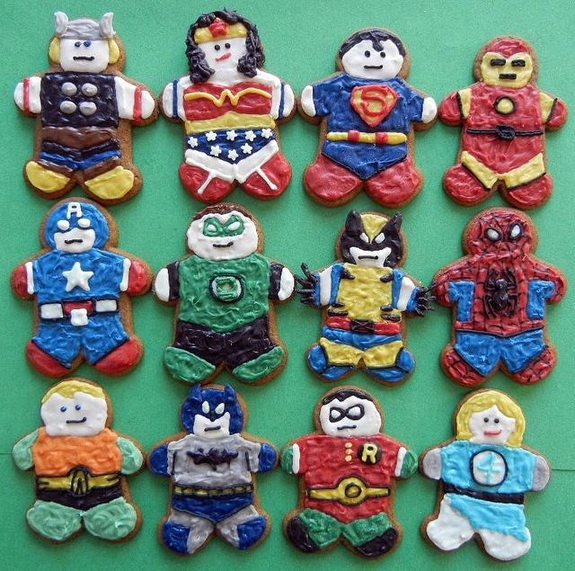 Superhero Gingerbread Cookies To Save Christmas