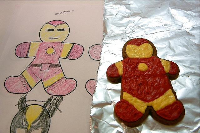 Epic Superhero Gingerbread Cookie Design