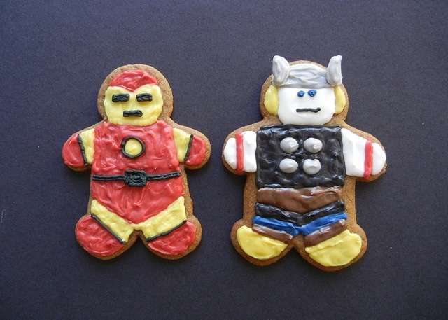 Epic Superhero Gingerbread Cookie Design