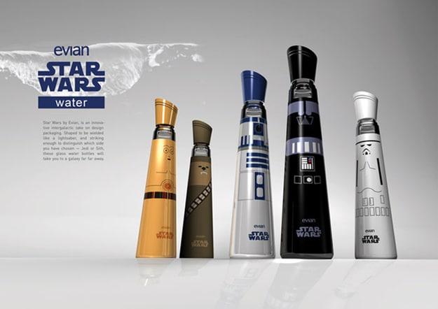 Darth Vader Evian Water Bottles