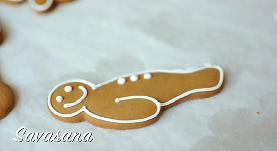 Learn Yoga From Gingerbread Cookie