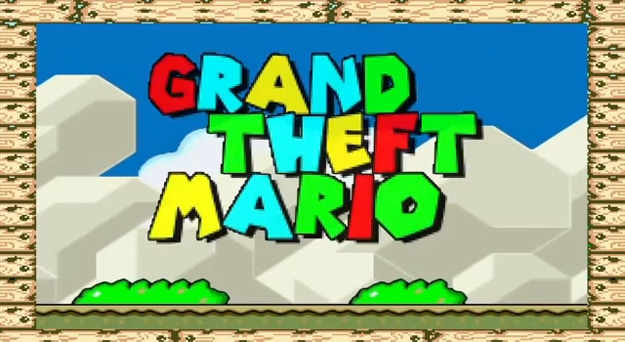 If The Grand Theft Auto Trailer Was Shot In Super Mario