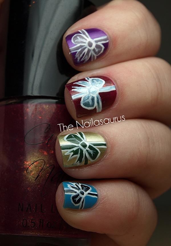 Christmas Gift Nail Art