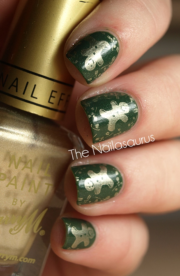 Green Holidays Nail Art