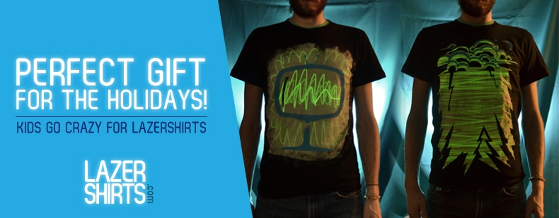 Lazer Shirt UV Light Show