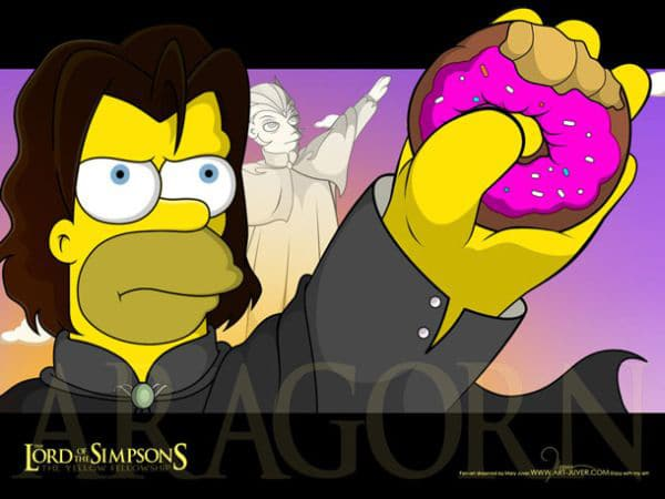Lord Of The Simpsons: A Creative LOTR & Simpsons Mashup