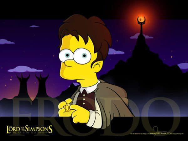 LOTR Simpsons Creative Mashup