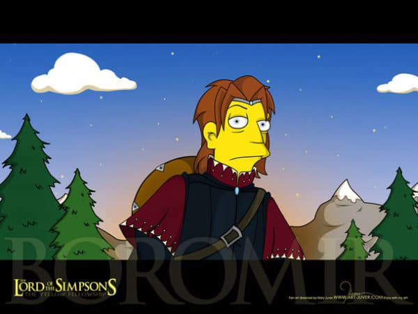LOTR Simpsons Creative Mashup
