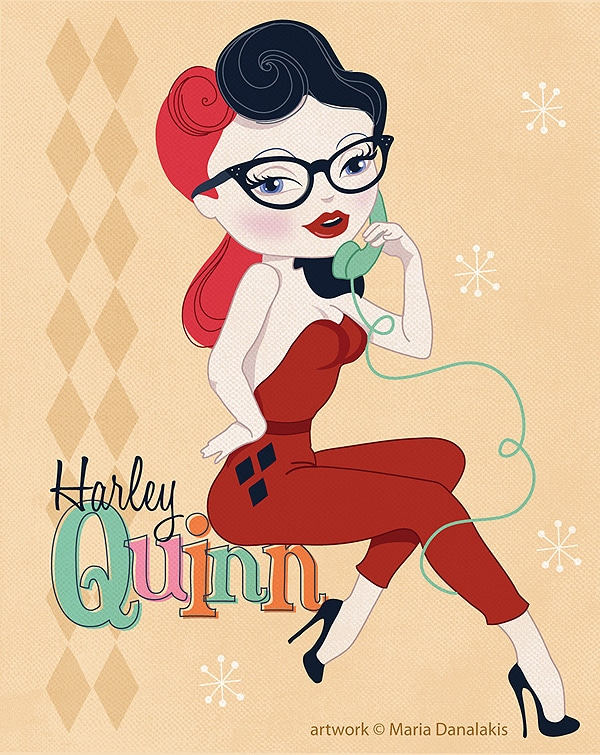 Harley Quinn Pin Up Art
