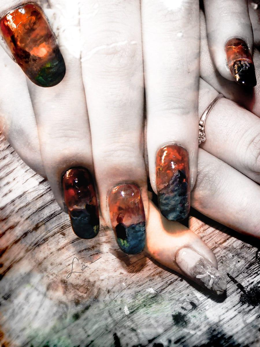 Mordor Nail Plish Artwork Design
