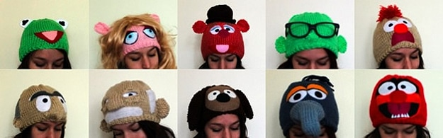 Design Inspiration: 10 Warm & Fuzzy Knitted Muppet Hats