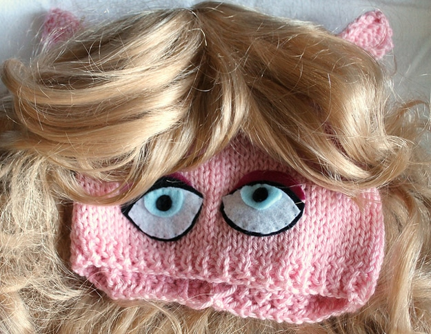 Miss Piggy Knit Craft Hat