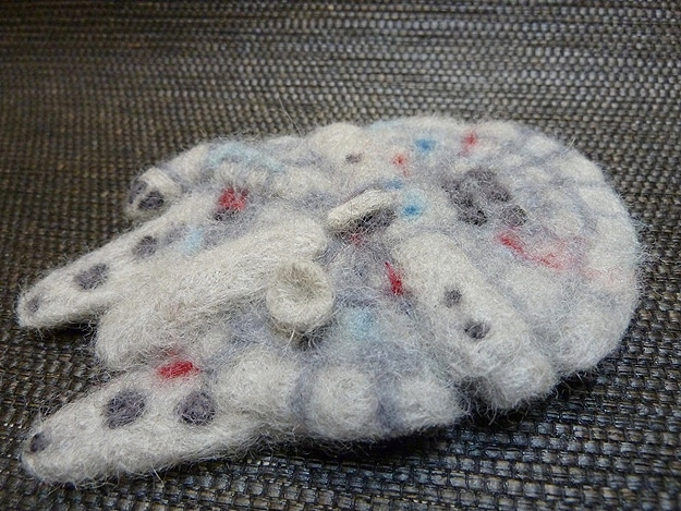 The Fuzzy Side Of The Force: Needle Felted Star Wars Ornaments