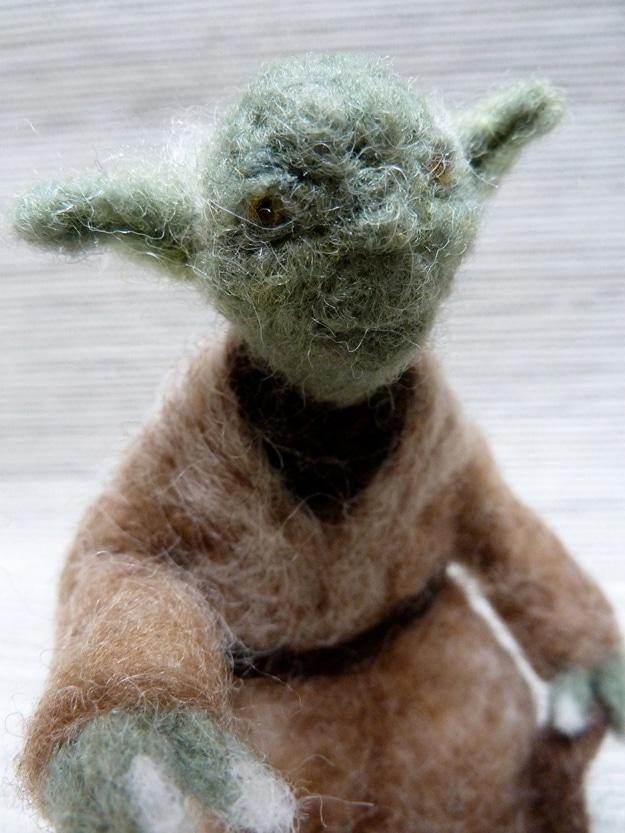 Handmade Yoda Holiday Ornament