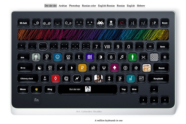 New Optimus LED Keyboard Concept