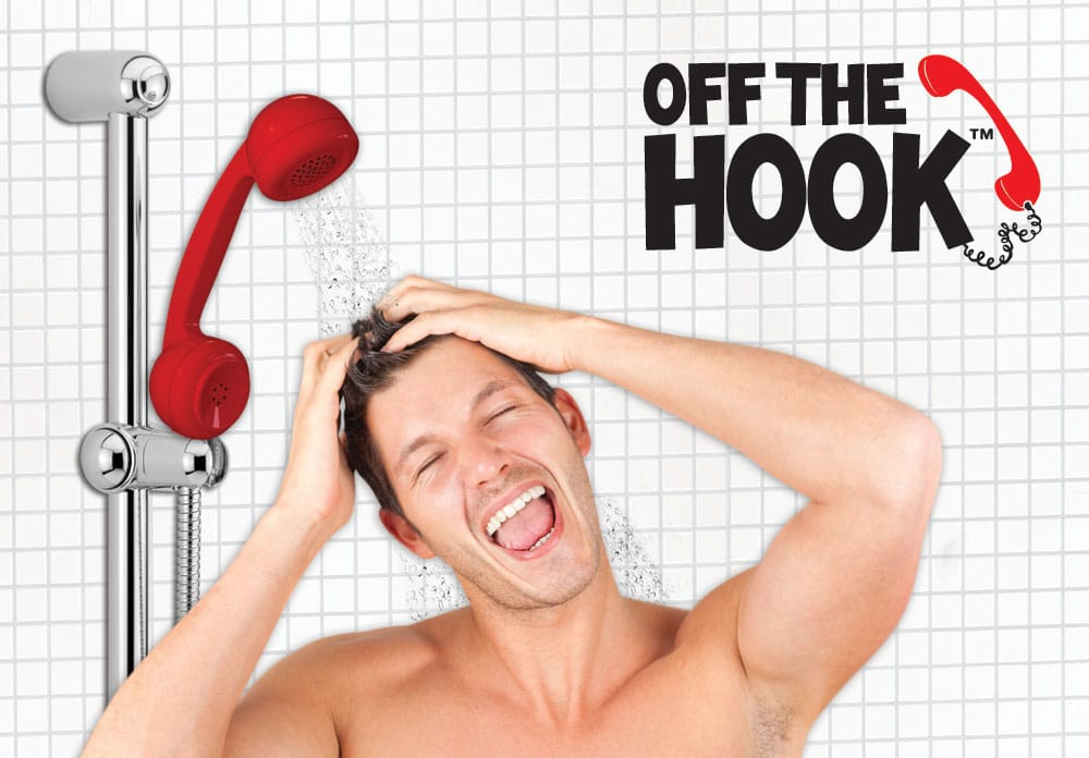 Off The Hook: A Shower Head For Talkative People
