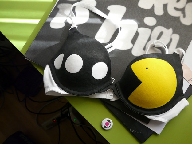 The Fabulous Pac-Man Glow In The Dark Bra