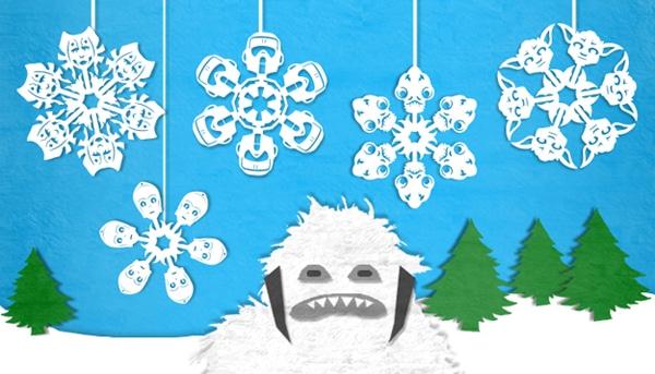 Paper Wampa Winter Snowflake
