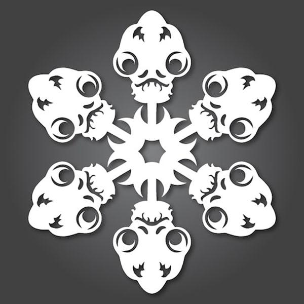 DIY Paper Yoda Snowflake