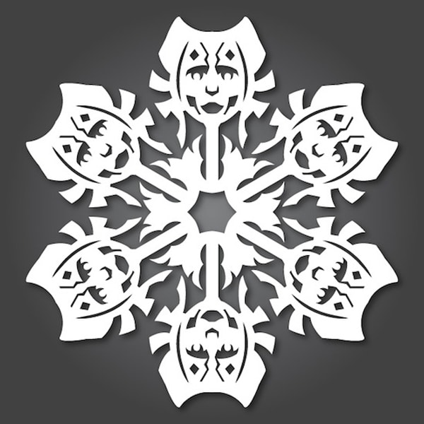 DIY Paper Winter Snowflake
