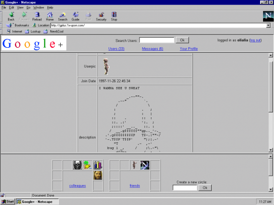 Re-Imagined Social Networking Services 1997