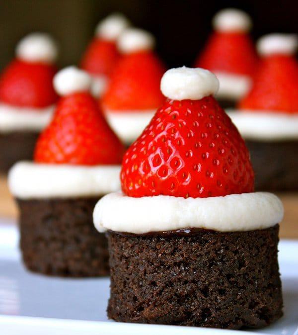 Food Design: Creative Santa Hat & Christmas Tree Brownies