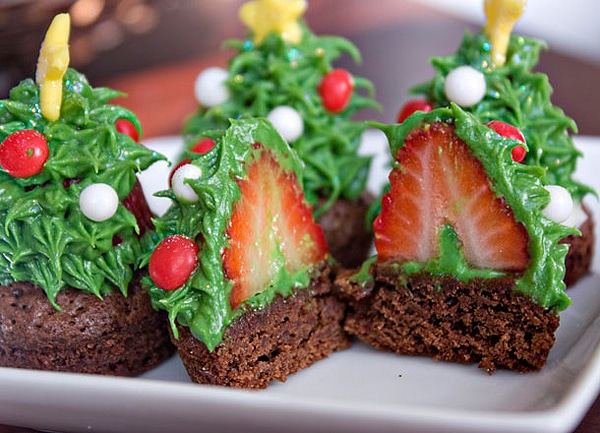 Festive Holiday Chocolate Brownies