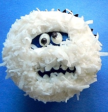 DIY Bumble & Wampa Snow Monster Cupcakes