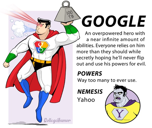 If Facebook, Google & More Were Superheroes [Infographic]