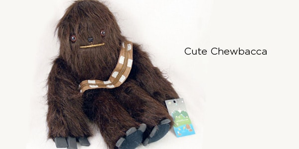 Fuzzy Chewbacca and Luke Toy