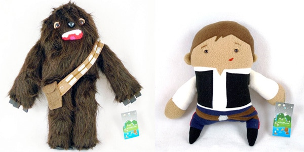 Chewbacca and Luke Fuzzy Toys