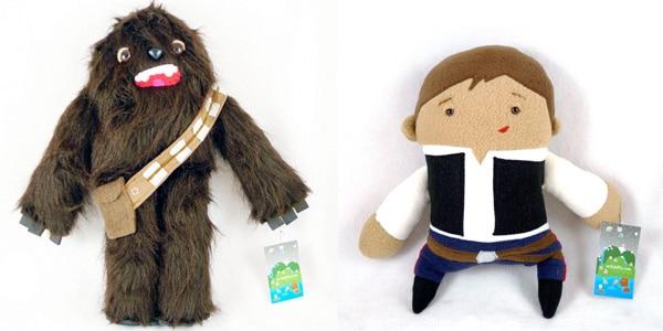 Chewbacca and Luke Fuzzy Toys
