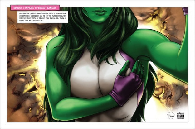 She Hulk Self Breast Exam