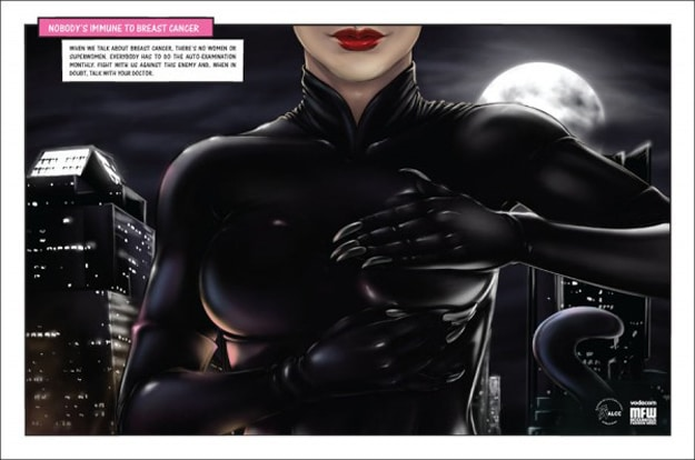 Catwoman Self Breast Exam