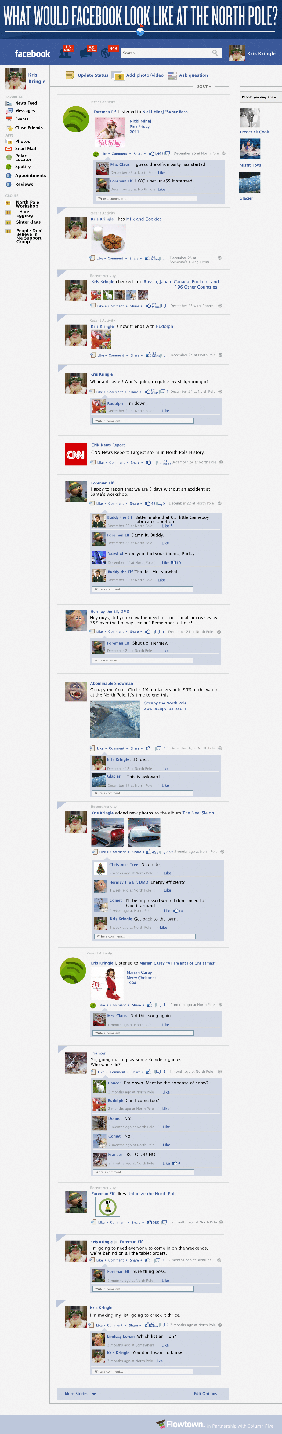 What Facebook Would Look Like At The North Pole