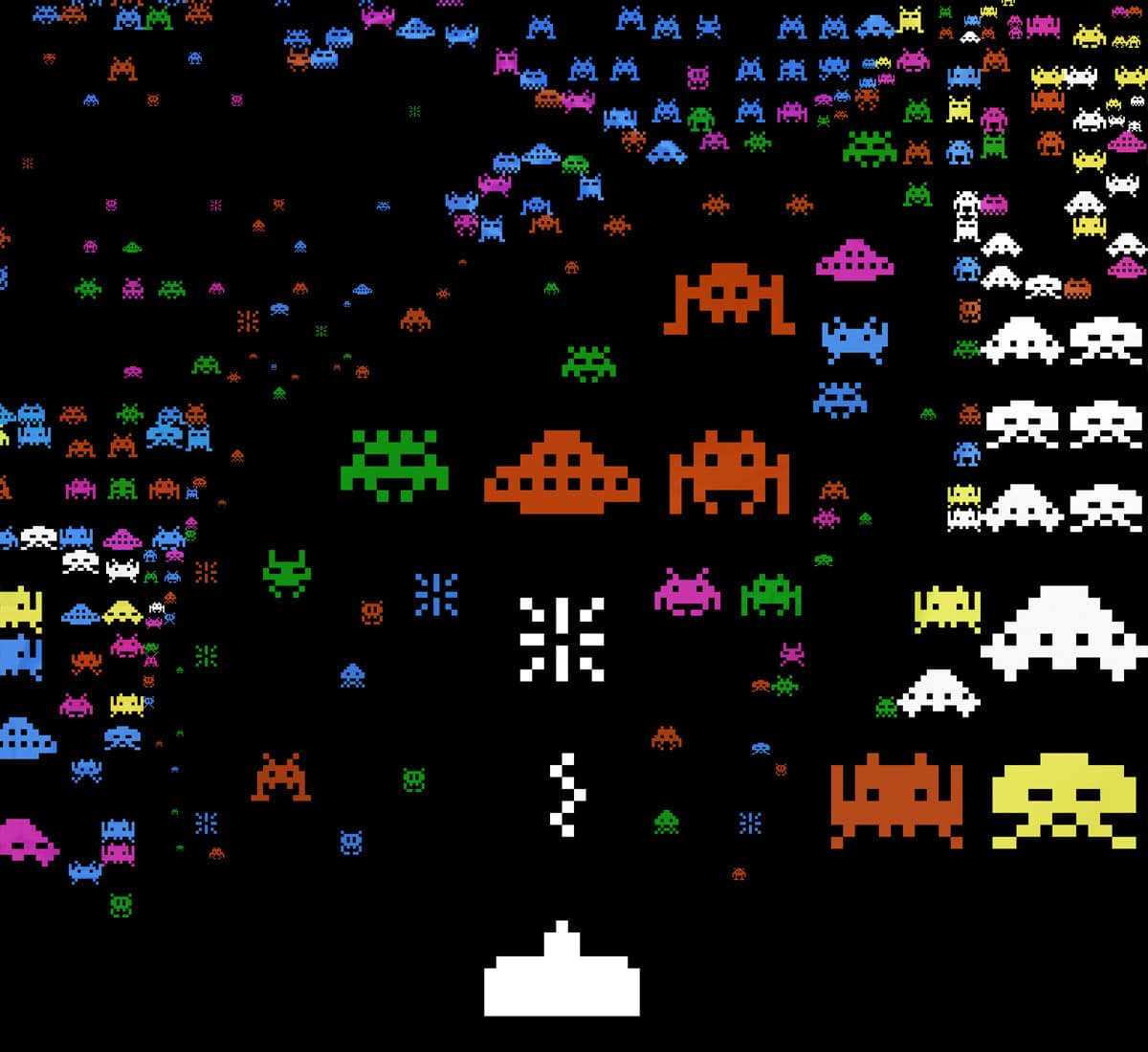 The Space Invaders 8-Bit Portrait