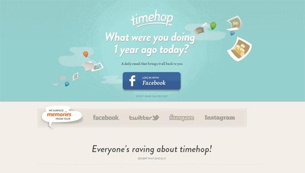 Timehop Online Memory Lane Service