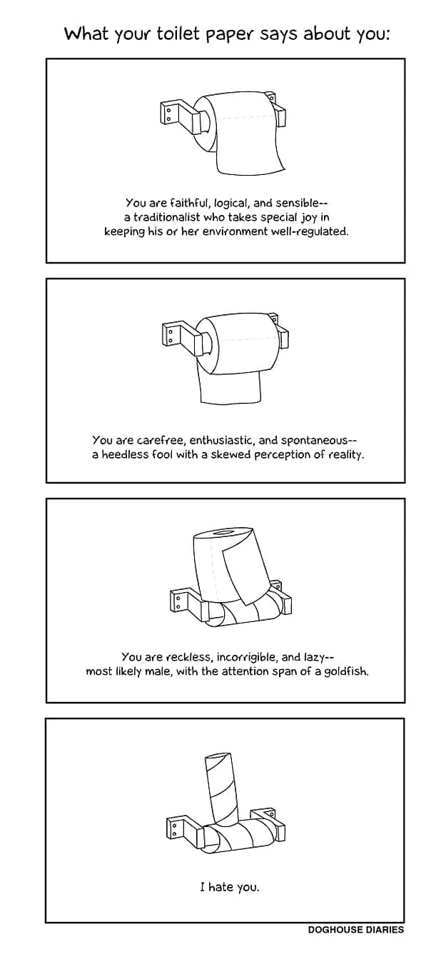 What Your Toilet Paper Says About Your Personality