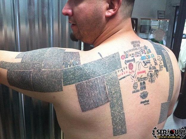 Man Sells Website Tattoos
