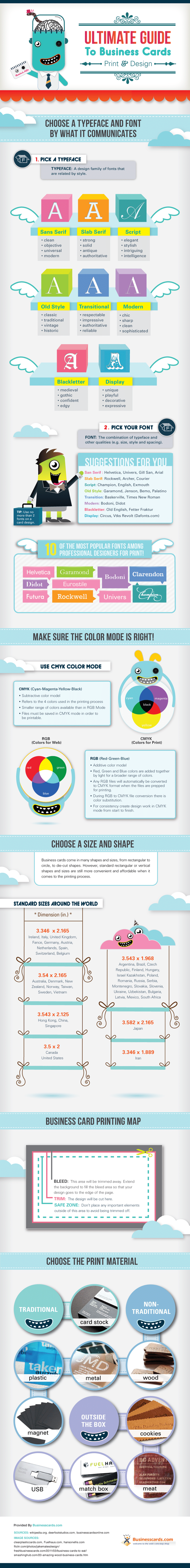 The Ultimate Guide To Business Card Design [Infographic]