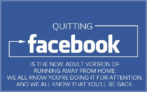 Quitting Facebook Like Running Away