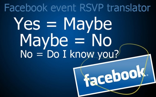 Facebook Event Invitation Responses