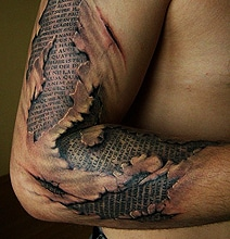 Words Under The Skin Tattoo Is Horrifically Cool
